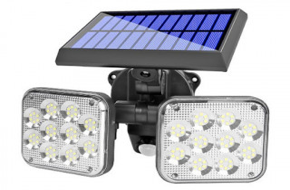 LÂMPADA SOLAR DE 120 LED COM SENSOR DE MOVIMENTO DUSK REF: JD-2108